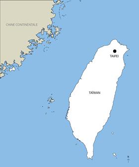 Carte Taiwan - Enzo Dubesset